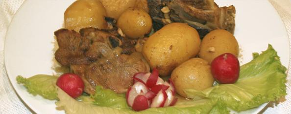 Batatas inteiras
